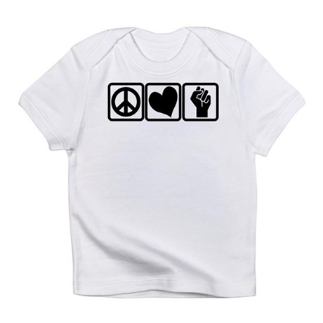 PEACE-LOVE-OCCUPY Infant T-Shirt
