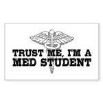 Med Student Sticker (Rectangle)