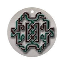 Celtic Yule Knot 1 Ornament (Round)