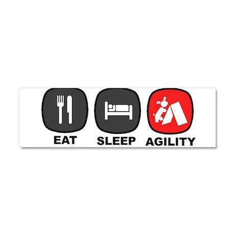 Eat. Sleep. Agility Car Magnet 10 x 3