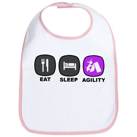 Eat. Sleep. Agility Bib