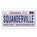 Squanderville Rectangle Sticker
