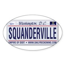 Squanderville Oval Decal