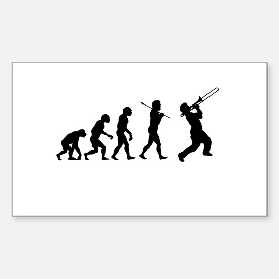 Evolve - Trombone Sticker (Rectangle)