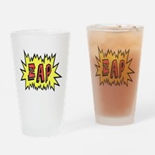 'ZAP' Drinking Glass