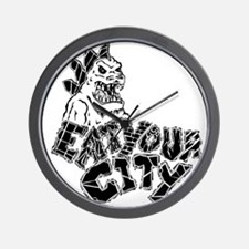 eat your city Wall Clock