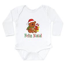 Portuguese Christmas Baby Long Sleeve Infant Bodys