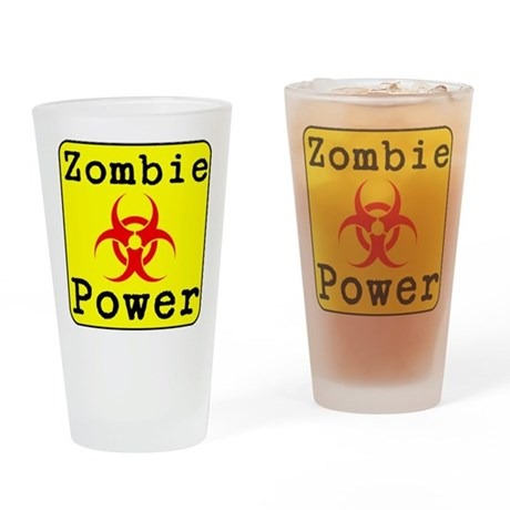 Zombie Power Drinking Glass