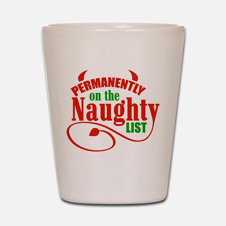Naughty List Shot Glass