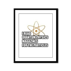 For the particles Framed Panel Print