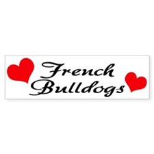 Love Frenchies - Pied Bumper Sticker