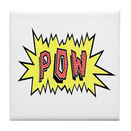 'POW' Tile Coaster