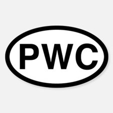 PWC (Pembroke Welsh Corgi) Oval Decal