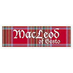 Tartan - MacLeod of Gesto Sticker (Bumper 50 pk)