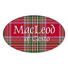 Tartan - MacLeod of Gesto Sticker (Oval)