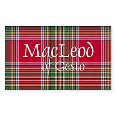 Tartan - MacLeod of Gesto Decal