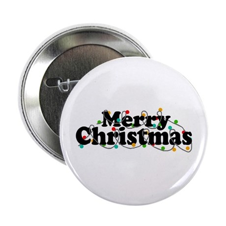 "'Merry Christmas' 2.25"" Button"