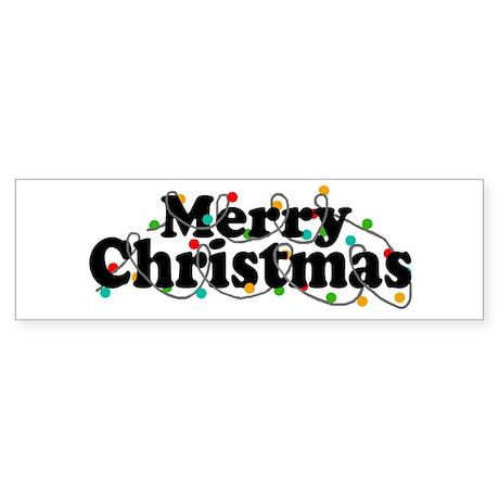 'Merry Christmas' Sticker (Bumper)