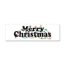 'Merry Christmas' Car Magnet 10 x 3