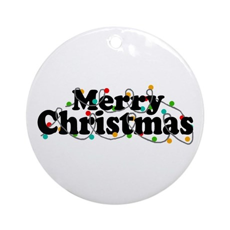 'Merry Christmas' Ornament (Round)