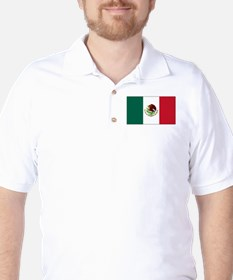 Mexican Flag Golf Shirt