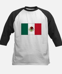 Mexican Flag Kids Baseball Jersey
