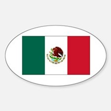 Mexican Flag Oval Decal