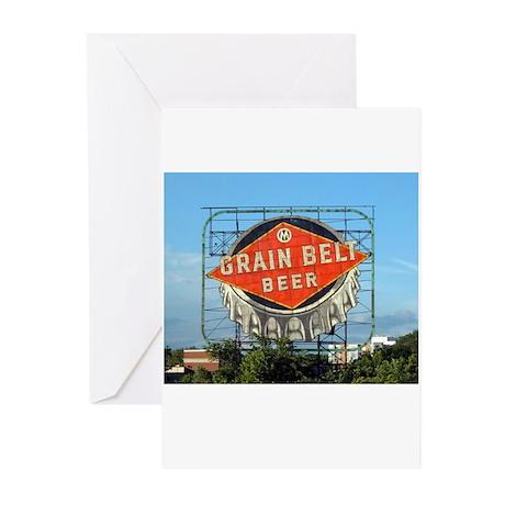 Grain Belt Sign Greeting Cards (Pk of 10)