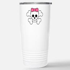 Girly Skull Travel Mug