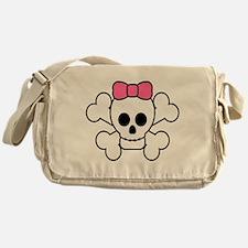Girly Skull Messenger Bag