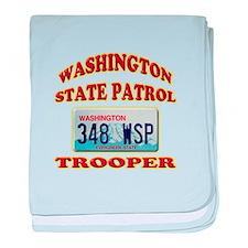 Washington State Patrol baby blanket