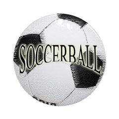 FootBall Soccer Ornament (Round)