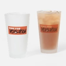 Time for Revolution Drinking Glass