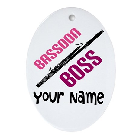 PERSONALIZED BASSOON MUSIC ORNAMENT