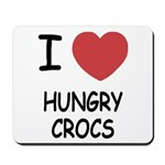 I heart hungry crocs Mousepad