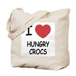 I heart hungry crocs Tote Bag