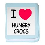 I heart hungry crocs baby blanket