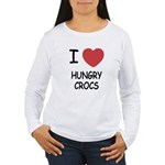 I heart hungry crocs Women's Long Sleeve T-Shirt
