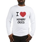 I heart hungry crocs Long Sleeve T-Shirt