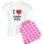 I heart hungry crocs Women's Light Pajamas