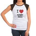 I heart hungry crocs Women's Cap Sleeve T-Shirt