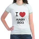 I heart hungry crocs Jr. Ringer T-Shirt
