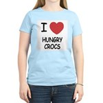 I heart hungry crocs Women's Light T-Shirt