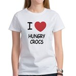 I heart hungry crocs Women's T-Shirt