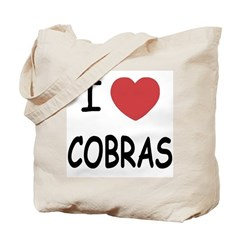 I heart cobras Tote Bag