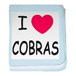 I heart cobras baby blanket