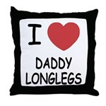 I heart daddy longlegs Throw Pillow