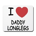 I heart daddy longlegs Mousepad