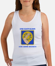 DUI - 2nd Bn - 34th Armor Regt with Text Women's T