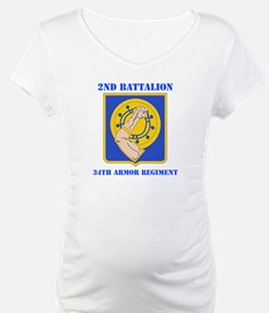DUI - 2nd Bn - 34th Armor Regt with Text Shirt